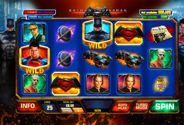 batman v superman slot screen