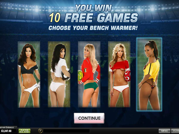 benchwarmer football girls video slot