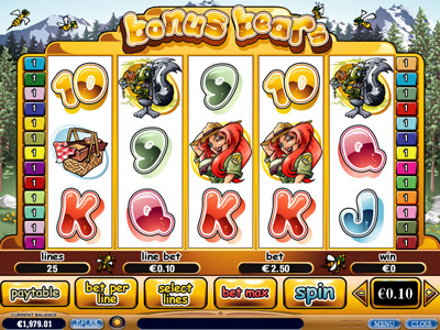 bonus bears video slot