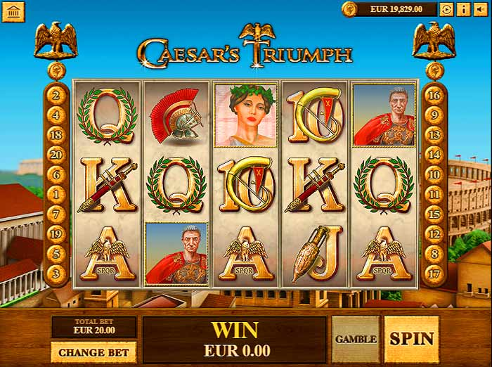 caesars triumph slot screen