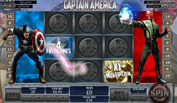 captain america marvel free spins