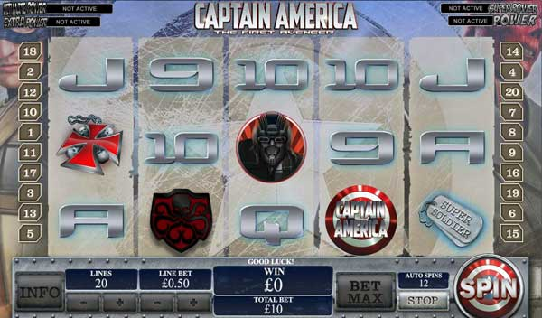 Captain America Marvel Slot Games