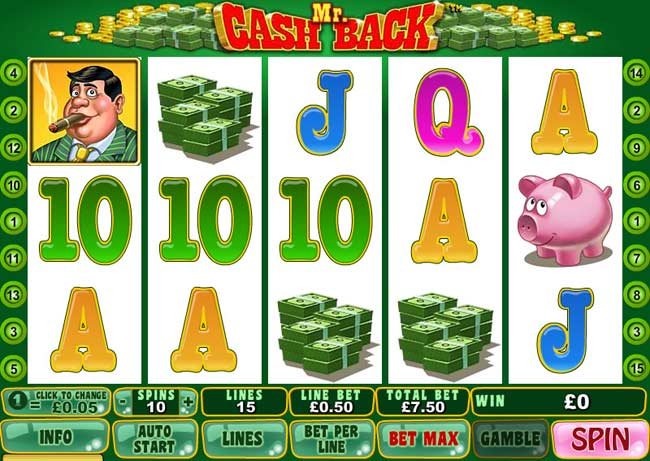 mr cash back online slot game