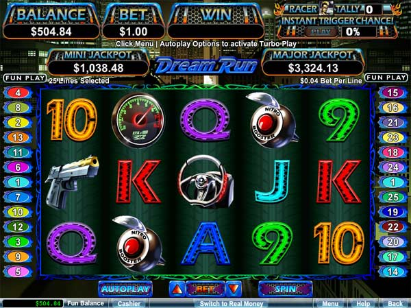 dream run video slot