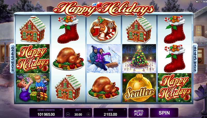 happy holidays xmas slot