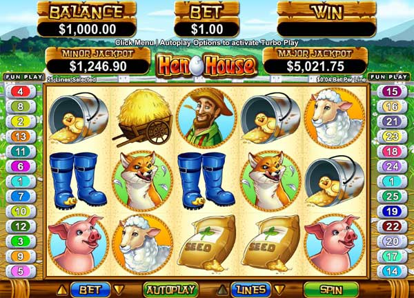 hen house video slot