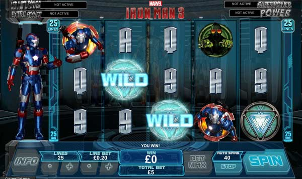 Iron Man 3 video slot