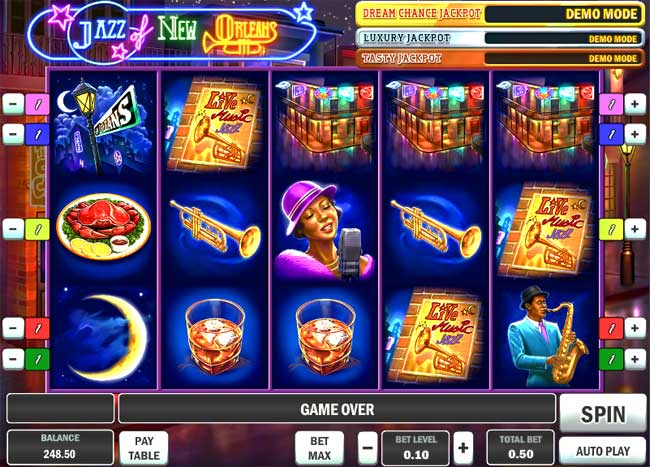 jazz of new orleans online slot