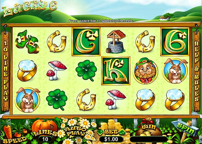 lucky 6 video slot