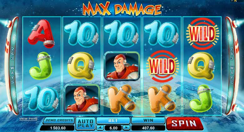 Max Damage casino game