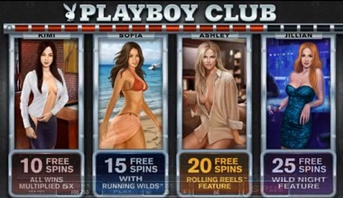 playboy free spins