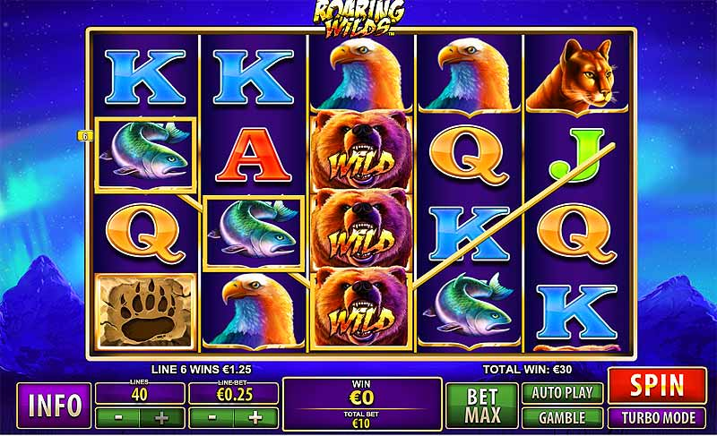 Roaring Wilds Video Slot
