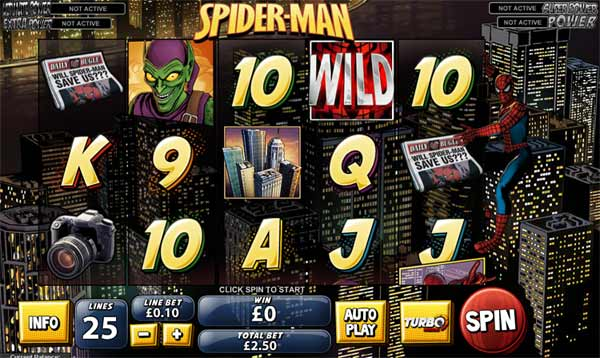 spiderman marvel slot
