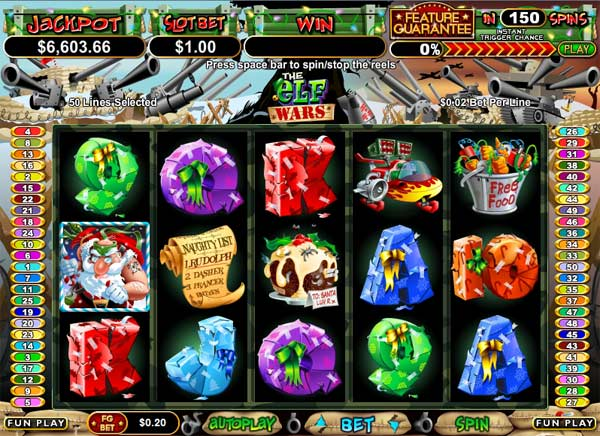 the elf wars online slots game