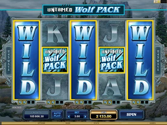 wolf pack free spins