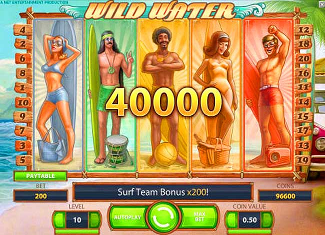 wild water video slot