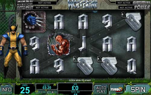 wolverine slots screen