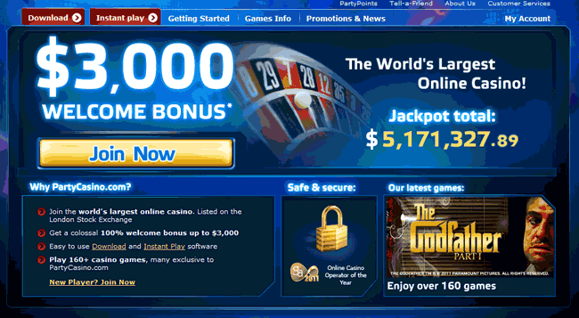 party casino bonus
